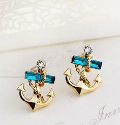 Anchor stud earrings