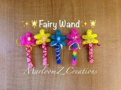 Rainbow Loom PINKALICIOUS WAND. Designed and loomed by MarloomZ Creations. Click photo for YouTube tutorial. 05/07/14.