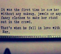 When he falls in love w her