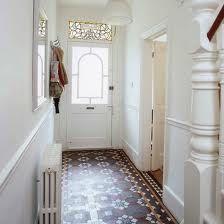 Small hallway lighting ideas narrow hallway ideas tiled hallway small hallway ideas photo gallery beautiful homes . Hall Tiles, Tiled Hallway, Hallway Flooring, Hallway Paint, White Hallway, White Walls, Staircase Walls, Bright Hallway, Stairs Canopy