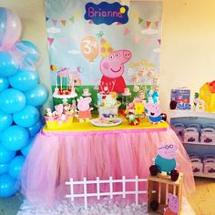 A personal favorite from my Etsy shop https://www.etsy.com/listing/252889003/peppa-pig-birthday-peppa-pig-backdrop