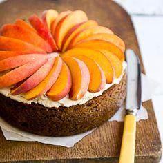 cake more foodies cake recipe bakin cakes pretty cake peach brown