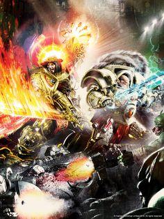 Warhammer 40000,warhammer40000, warhammer40k, warhammer 40k, ваха, сорокотысячник,фэндомы,horus,Primarchs,Emperor (wh 40000),Imperium,Империум,Pre-heresy,luna wolves,Orks
