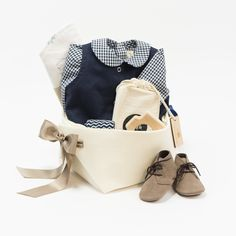 Luxury Baby Gift Basket featuring Les Petites Natures at Bonjour Baby Baskets