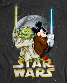 Yoda and Mickey Mouse- cause Disney bought star wars. Disney Now, Art Disney, Disney Kunst, Disney Magic, Disney Hall, Disney Star Wars, Disney Stars, Mickey Mouse And Friends, Mickey Minnie Mouse