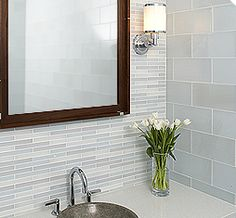 Metro Crisp utilizes a clean, pure glass, allowing for a wonderful new range of colors in the world of glass tile. The Crisp palette brings whiter whites and brighter colors to the Ann Sacks glass offering. Coupled with the program's extensive range of field sizes, this makes it a brilliant medium for any vertical installation.