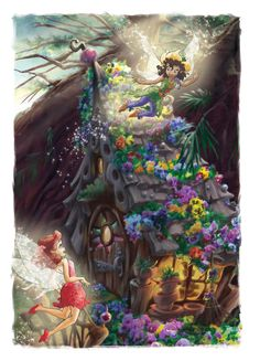 The Art Of Disney Fairies // that house though!!