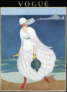 ⍌ Vintage Vogue ⍌ art and illustration for vogue magazine covers - August 1916 by George Plank Posters Vintage, Retro Poster, Art Deco Posters, Vintage Art, Vogue Vintage, Vintage Vogue Covers, Art And Illustration, Vintage Illustrations, Fashion Illustrations