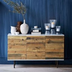 West Elm Reclaimed Wood + Lacquer Buffet (18,835 MXN) ❤ liked on Polyvore featuring home, furniture, storage & shelves, sideboards, reclaimed barn wood furniture, west elm furniture, salvaged wood furniture, west elm and recycled wood furniture