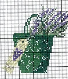 лаванда, схемы для вышивки крестом