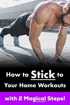 Following a home workout routine is hard. Use these 2 enchanting steps to bring ease to your home workouts, unlike anything you've tried before. #inspiration #motivation #workout #training #bodybygravity #Homeworkout #bodyweight #calisthenics #fitness Health And Fitness Expo, Health And Fitness Articles, Health Tips, Home Exercise Routines, At Home Workouts, Workout Plan For Men, Workout Plans, Bodyweight Strength Training, Muscle Building Tips