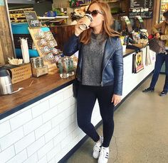 Tanya Burr style YouTube everyday addidas superstar casual autumn Spring