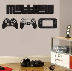 This gamer wall decal makes the perfect gift for the extreme gamer fan. Personalize this vinyl decal with a name. Easy to install and easy to remove. Dont wait to grab this one in time for the holidays. ✔ CHOOSE YOUR SIZE - Approx. 18Tx40W - Approx. 22Tx50W  ☎ Need another size? Just ask! ✔ CHOOSE YOUR COLOR Pick your favorite color in the drop down box to the right.  ✔ TURN-AROUND-TIME Your item is made to order so give it 3-5 business days to ship. You will receive tracking information…