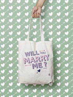 """Sac """"Saint Valentin"""", Tote bag à personnaliser, témoin, sac cabas, sac demoiselle d'honneur, mariage"""