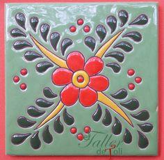 mayolica-salta-argentina-toli-toly-artesanal-arquitectura-cuerda-seca-tile-azulejo-ceramica-esmaltado-horno-clases-mosaiquismo-arte-art-craft-foreign-gift-decoracion-hand-mosaico Stencil Painting, Ceramic Painting, Ceramic Art, Tile Art, Mosaic Art, Mosaic Tiles, Azulejos Art Nouveau, Art Nouveau Tiles, Polymer Clay Embroidery