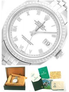 Mint Rolex DateJust Stainless 16220 36mm White Jubilee Watch Men's Ladies Womens