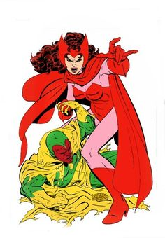 The Vision and the Scarlet Witch by John Byrne.