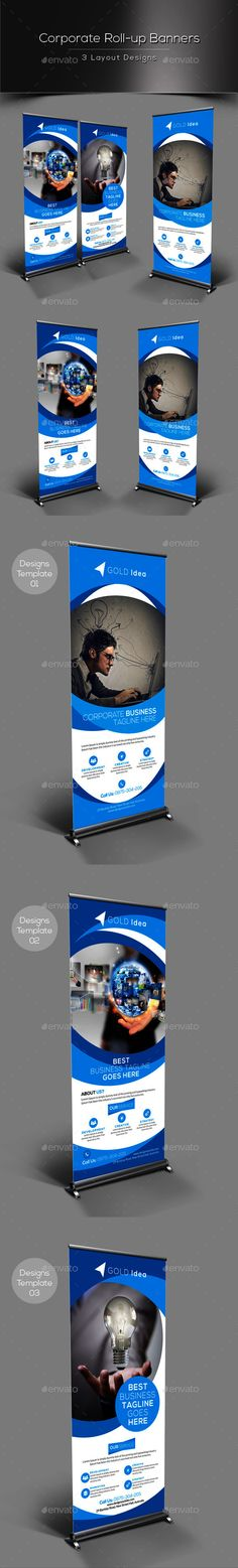 Corporate Rollup Banner Template #design Download: http://graphicriver.net/item/corporate-rollup-banner/13004542?ref=ksioks