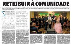 """In Diario de Noticias. O Lisbon Marriott Hotel, no âmbito do programa anual da Marriott International e em parceria com as embaixadas, empresas e famílias amigas, promoveu o evento """"Solidariedade sem Fronteiras"""". E vento apoiado pela JFD Ideas and Details"""