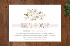 Soft Florals Bridal Shower Invitations by Chasity Smith at minted.com