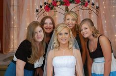 Tori, Mandy,  Katie and Jenny with Christi in the front. At Christi's wedding.