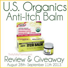 Thrifty Nifty Mommy: Anti-Itch Balm from U.S. Organics