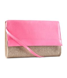 hot pink & glitter. use as a clutch or w shoulder strap