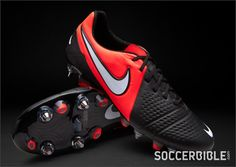 Nike Football Boots - Nike Maestri III SG Pro - Soft Ground - Soccer Cleats  - Black-White-Bright Crimson u.k size 11 1ce075e5f4917