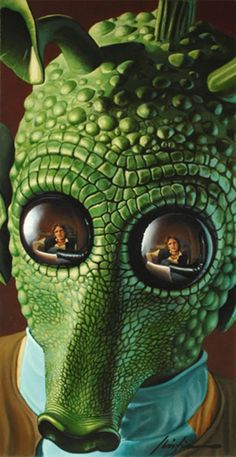 """Han shot first. - Have this painting! """"Greedo"""" Christian Waggoner"""
