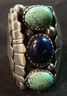 Navajo Ring by B Begay Sterling Silver by RCCollectibles on Etsy