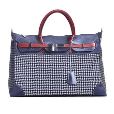 """Discrete, sophisticated and refined, """"The Eiffel"""" is the perfect take-everywhere handbag since it's made out of canvas and features a high tech cow leather & textile pattern that can fool the most expert eye while bringing a practical and cruelty-free alternative to ordinary leather (high maintenance) and fabric (boring) handbags that will put our Debra Handbags® lovers right on the spotlight for having a fun, unique and totally chic handbag!  http://debrahandbags.com/products/the-eiffel"""