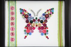Personalized Butterfly Button art