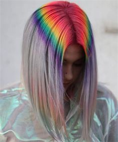 Rosa Haare 2019 - For the Love of Lob: 20 Long-Bob Hairstyles to Inspire You - Hair Cutting - Mode. Long Bob Hairstyles, Pretty Hairstyles, Medium Haircuts, Pink Hairstyles, Perfect Hairstyle, Modern Hairstyles, Bart Trend, Coloured Hair, Rainbow Hair