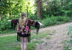Vintage Fringe Kimono by Wadulisi1949 on Etsy, $120.00