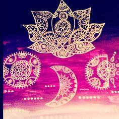 Mehendi style art ~ Moonflower
