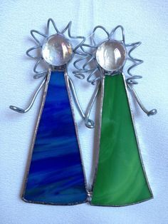 Stained Glass Christmas Ornament: Sisters/Best Friends by Mama Agee on Etsy, $10.00