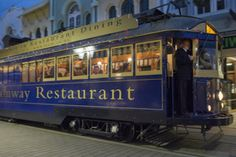 Christchurch Tramway Restaurant - Dinner Tour of Christchurch . Enjoy a fine dining experience aboard a luxurious, vintage tram. A unique way to view the inner city of Christchurch.incorporating stylish dining with Christchurch's Heritage South Island, Fine Dining, Old And New, Avon, New Zealand, Tours, Restaurant, Dinner, Luxury