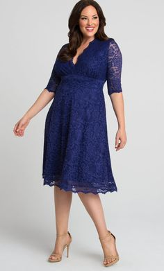 Check out the deal on Mademoiselle Lace Dress at Kiyonna Clothing Plus Size Wedding Guest Dresses, Plus Size Cocktail Dresses, Evening Dresses Plus Size, Plus Size Dresses, Plus Size Outfits, Wedding Dresses, Short Lace Dress, Lace Midi Dress, Chic Dress