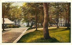 Lake Geneva Wisconsin WI 1920s Summer Camp YMCA College Antique Vintage Postcard