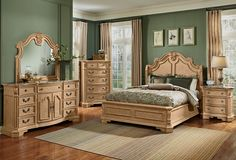 Monticello Almond Bedroom Collection - Value City Furniture-Queen Bed $799.99