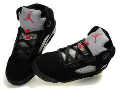 nike air jordans for women | Nike Air Jordan 5 Women Shoes Black/White/Red_Air Jordan Women Shoes ...