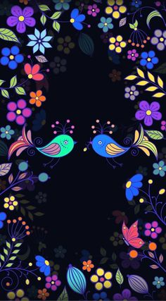 Black and colourful