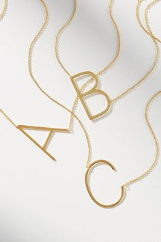Gold Choker, Gold Necklace, Letter Pendant Necklace, Gold Bracelets, Necklace Ideas, Diamond Earrings, Gold Monogram Necklace, Initial Necklaces, Pearl Necklaces
