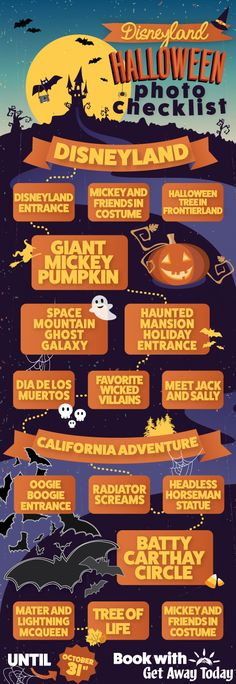 Disneyland Halloween Time Photo Checklist || Get Away Today