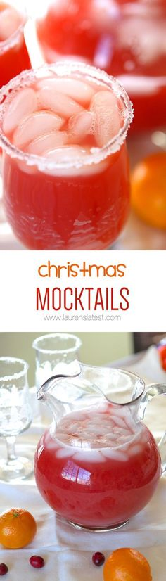 Christmas Mocktails take 5 minutes or less to throw together and are the most festive fruity drink you'll have this December!