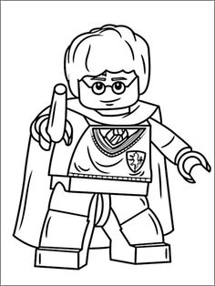 Lego Harry Potter Coloring Pages 4 Coloring pages for kids