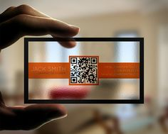 Creative Transparent Business Cards With QR Code by quickmediauk, via Flickr