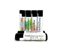 Lip Balm Gift Set, Choose 4 Flavored Lip Balms, Natural Lip Balm, Gift under 15