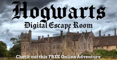A Harry Potter themed online adventure that you can complete individually or as a group or family. Harry Potter Online, Harry Potter Classes, Harry Potter Classroom, Theme Harry Potter, Harry Potter Activities, Star Citizen, Escape Room For Kids, Escape Room Online, Pranks