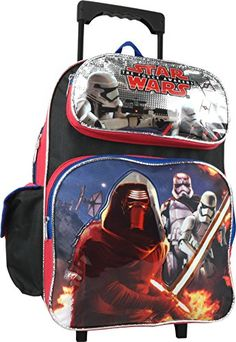 Disney Star Wars the Force Awakens Large 16 Rolling Backpack * Visit the image link more details.